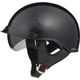 GMax GM65 Full Dressed Half Helmet Black