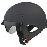 GMax GM65 Full Dressed Half Helmet Flat Black
