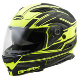 GMax MD01 Stealth Modular Helmet Black/Hi-Viz Yellow