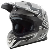 GMax MX86 Step Helmet Flat Black/Dark Silver/White