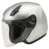 GMax OF17 Open Face Helmet Dark Silver