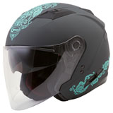 GMax OF77 Eternal Helmet Matte Grey/Teal