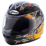 GMax Youth GM49Y Alien Helmet Black/Orange