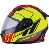 GMax Youth GM49Y Rogue Helmet Matte Hi-Viz Yellow/Red