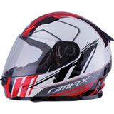 GMax Youth GM49Y Rogue Helmet White/Red