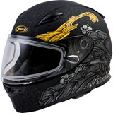 GMax FF49S Yarrow Cold Weather Helmet Matte Black/Gold