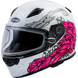 GMax FF49S Yarrow Cold Weather Helmet White/Pink