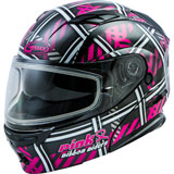 GMax MD01S Pink Ribbon Riders Cold Weather Modular Helmet Black/Pink