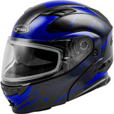 GMax MD01S Wired Cold Weather Modular Helmet Black/Blue