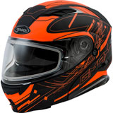 GMax MD01S Wired Cold Weather Modular Helmet Black/Hi-Viz Orange