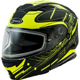 GMax MD01S Wired Cold Weather Modular Helmet Black/Hi-Viz Yellow