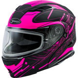 GMax MD01S Wired Cold Weather Modular Helmet Black/Pink