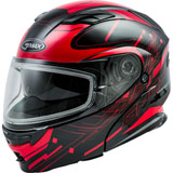 GMax MD01S Wired Cold Weather Modular Helmet Black/Red