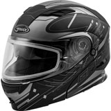 GMax MD01S Wired Cold Weather Modular Helmet Black/Silver