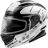 GMax MD01S Wired Cold Weather Modular Helmet Matte Black/White