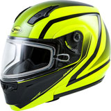 GMax MD04S Docket Cold Weather Modular Helmet Hi-Viz Yellow/Black