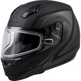 GMax MD04S Docket Cold Weather Modular Helmet Matte Silver/Black