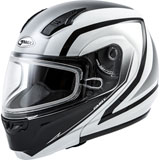 GMax MD04S Docket Cold Weather Modular Helmet White/Black