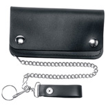 Heavy Duty Leather Five-Pocket Leather Wallet Black