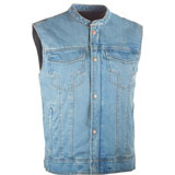 Highway 21 Iron Sights Club Collar Denim Vest