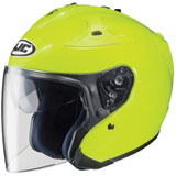 HJC FG-Jet Open-Face Motorcycle Helmet Hi-Viz Yellow