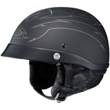 HJC CL-Ironroad Showboat Half-Face Helmet  Silver/Black