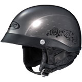 HJC CL-Ironroad Black Rose Ladies Half-Face Helmet