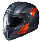 HJC RPHA-90 Tanisk Modular Helmet Black/Orange