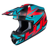 HJC CS-MX 2 Madax Helmet Semi-Flat Aqua/Red