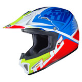 HJC Youth CL-XY 2 Ellusion Helmet Neon Green/Blue