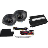 "Hogtunes 5.25"" Front Speaker and Amp Kit"