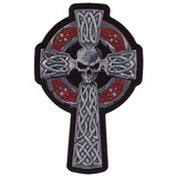 Hot Leathers Embroidered Patch -  Celtic Cross