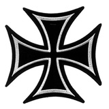 Hot Leathers Embroidered Patch -  Iron Cross