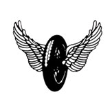 Hot Leathers Helmet Sticker - Wings