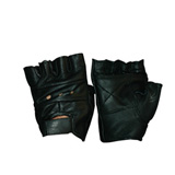 Hot Leathers Fingerless Motorcycle Gloves