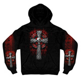 Hot Leathers Celtic Cross Hooded Sweatshirt