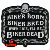 Hot Leathers Embroidered Patch -  Biker Born