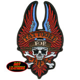 Hot Leathers Embroidered Patch - Tattooed For Life