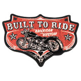Hot Leathers Embroidered Patch -  Built to Ride American Kustom