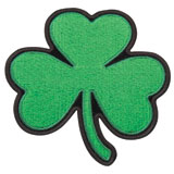 Hot Leathers Embroidered Patch -  Shamrock