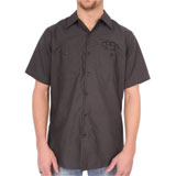 Hot Leathers Brass Knuckles Mechanic's Button Up Shirt