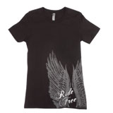 Hot Leathers Ride Free Corner Upwings Ladies T-Shirt