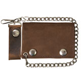 "Hot Leathers 4"" Tri-Fold Leather Wallet"