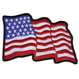 Hot Leathers Embroidered Patch -  Wavy Flag