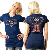 Hot Leathers Angel Wings Ladies T-Shirt