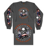 Hot Leathers Skull Motor Long Sleeve T-Shirt