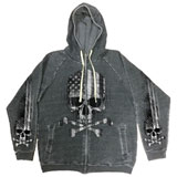 Hot Leathers Flag Skull Zip-Up Hooded Sweatshirt