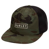 Hurley State Beach Snapback Hat Camo Green