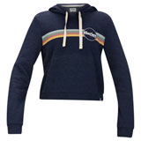 Hurley Women's Jammer Stripe Perfect Fleece Crop Hooded Sweatshirt