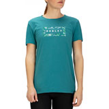 Hurley Women's Flashback Floral Perfect T-Shirt Mineral Teal